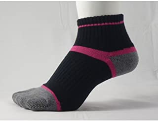 草鞋ソックス S(22-24cm)ピンク 【わらじソックス】【炭の靴下】【足袋型】