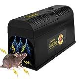 Guijiyi Trampas para Ratones, Trampa Electrica Ratas Profesional para Roedores, Eliminadores de Alto Voltaje, Mouse Trap Potente para Capturar Ratones de Interior y Exterior, Ratas e Insectos Plaga