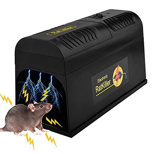 Guijiyi Trampas para Ratones, Trampa Electrica Ratas Profesional para Roedores, Eliminadores de...