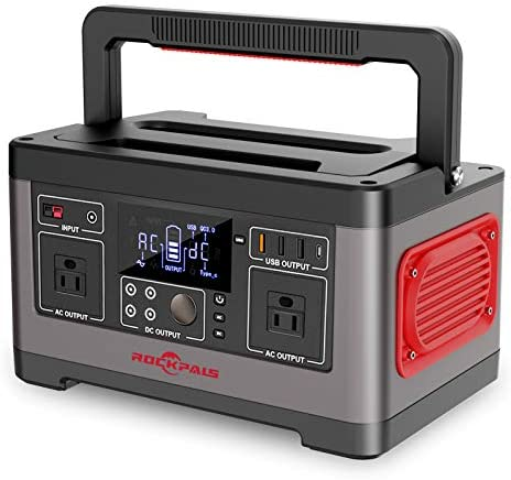 ROCKPALS 500W Portable Power Station 520Wh CPAP Backup Lithium Battery Pack Camping Powered product image