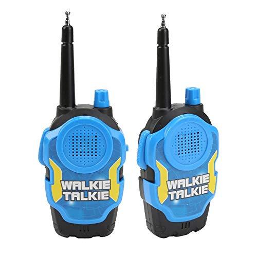 feilai Un par de walkie talkies mini portátil de mano de dos vías de radio juguete para niños al aire libre interfono juguete con caja original (color: azul)