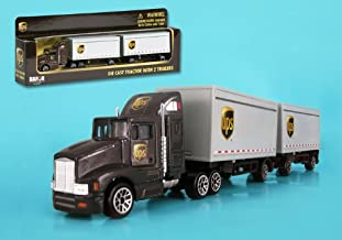 DARON/REALTOY 2011 UPS Tandem Tractor Trailer 1/87 HO Scale Diecast Truck