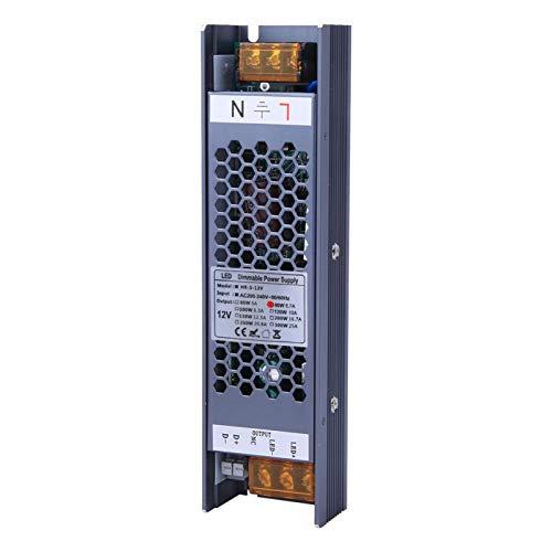 Fuente de alimentación de atenuación de la carcasa de aleación de aluminio Fuente de alimentación del interruptor LED para tira de luz LED(12V/6.7A)