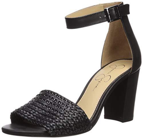 Jessica Simpson Sherron4 - Zapatillas de Piel sintética para Mujer, Color Negro, Color Negro, Talla 40 EU