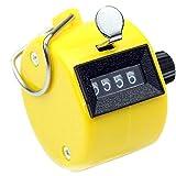 N-K PULABO - Contador manual amarillo portátil Tally Counter manual, número de dígitos, contador de vueltas, clicker mecánico, amarillo, elegante y duradero, popular