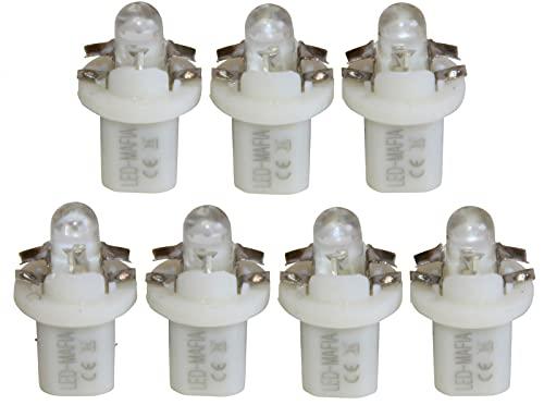 LED-Mafia Lot de 7 ampoules halogènes rondes Heat pour tableau de bord - Blanc, bleu, rouge, cockpit C (vert)