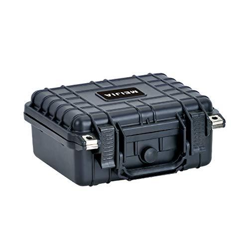 MEIJIA Bolsas y fundas para cámaras compactas,Maletín técnico de Polipropileno para cámaras, Objetivos, Flashes y Drones,con espuma incluida,10.62' x 9.68'x 4.87' (negro)