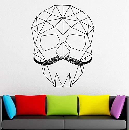 Calcomanía De Vinilo De Calavera Geométrica Papel De Etiqueta De Vinilo De Pared Geométrica Origami Decoración De Pared Murales De Bricolaje 44X57 Cm