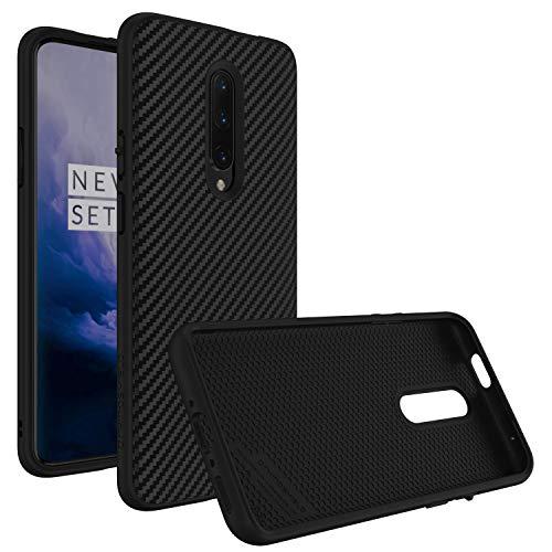 RhinoShield Hülle für OnePlus 7 Pro - SolidSuit - Sturzresistente Dünn Designte Schutzhülle mit Premium Matt Finish 3.5 Meter Fallschutz - Karbonfaser Finish Schwarz