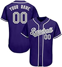 Custom Students' Baseball Jersey Embroidered, Design Sportwear with Team Players' Name,Numbers Big Size,Purple