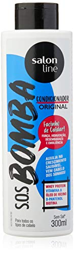 Condicionador - S.O.S Bomba Original, 300 ml, Salon Line, Salon Line, Branco
