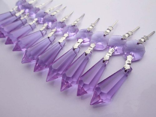 Sun Cling Chandelier Icicle Crystal, 38, (Pack of 20) - Purple