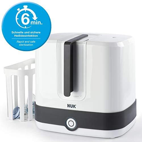 NUK Vario Express Dampf-Sterilisator 3-in-1 Modular für bis zu 6 Babyflaschen, Sauger & Zubehör oder Milchpumpe