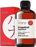 Olio essenziale di pompelmo Hana, aumenta l'energia e corteccia le voglie malsane - per raggiungere obiettivi di adattamento - 100 puro grado terapeutico per aromaterapia e uso topico, 30 ml
