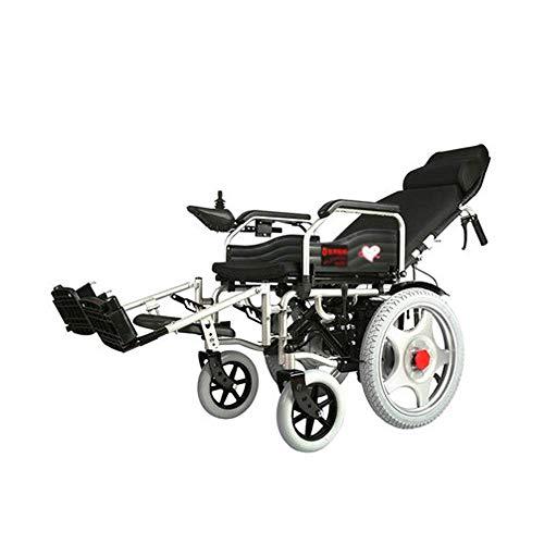 SISHUINIANHUA Praktischer Elektrorollstuhl für ältere Menschen, Faltbarer Rollstuhl Tragbares Allrad-Smart-Care-Auto für ältere Menschen Behinderter Ganzkörperrollstuhl