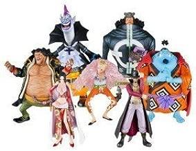 Bandai Tamashii Nations One Piece Seven Warlords of The Sea Chozoukei Damashii Toy Figures, Set of 8