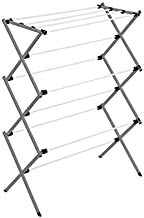 Honey-Can-Do Collapsible Clothes Drying Rack DRY-09065 Metal Clothes Drying Rack, Folding Drying Rack, Gray, 50 lbs