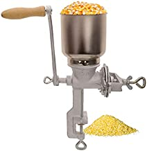 Manual Crank Grain Grinder, Hand-operated Corn Wheat Coffee Spices Grinder Mill, Adjustable Grinding Performance, with Table Clamp, Great for Home Use, Bakery, Restaurants