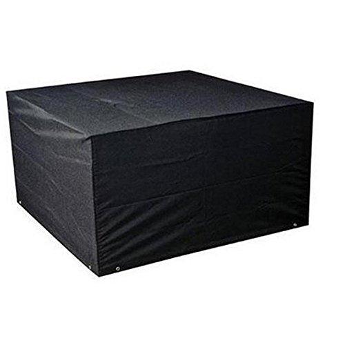 Lumanuby. 1 pcs 210d Oxford Chiffon meubles de jardin Housse de protection pliable Jardin noir Housse étanche à la poussière pour table/chaise/table basse d'extérieur, Oxford, Noir , 213*132*74CM
