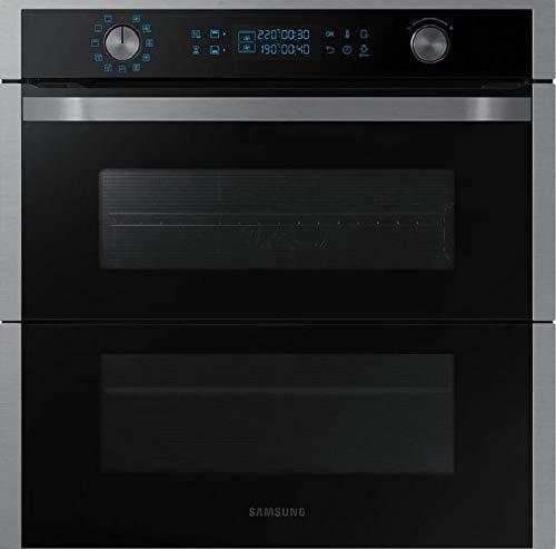SAMSUNG NV75N7677RS - Horno Pirolítico Dual Cook Flex, 75 Litros, Wifi