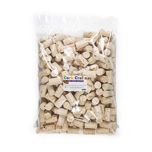 250 Corchos de Vino para Manualidades, Decoración y Bricolage, Tapones de Botella de Corcho Natural - 24 x 45 mm (Claro, 250)