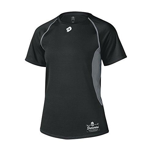 DeMarini Women's Game Day Short Sleeve Team Shirt, Black, Large