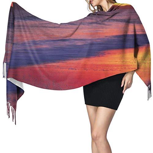 Pashmina Shawls and Wraps Scarf, Sunset At The Seaside Women's Winter Warm Scarf Fashion Long Large Soft Cashmere Shawl Wrap Scarves