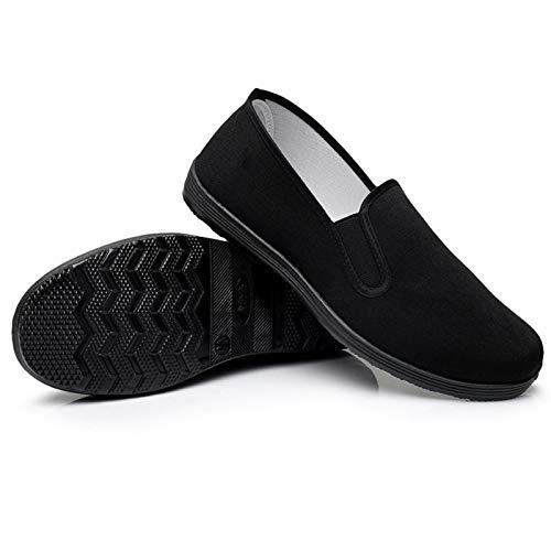 Arte Marcial/Kung Fu/Tai Chi Zapatos Suela de Goma Zapatos de Lona Unisex Negro Completo Tamaño 43...