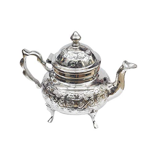 Horus Artesanía de Egipto Tetera marroquí oriental tradicional uso diario. 800 ml equivale a 10 vasos de té