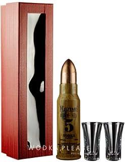 Geschenkidee Dbowa Military Mini  hochwertige Gläser in Geschenkverpackung | Sammlerstück | Polnischer Wodka | 1 x 40%, 0,05 Liter