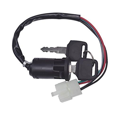 JRL 4 fils mâle Plug centres commutateur à clé pour 50 70 90 110 125 CC Quad ATV Dirt bike