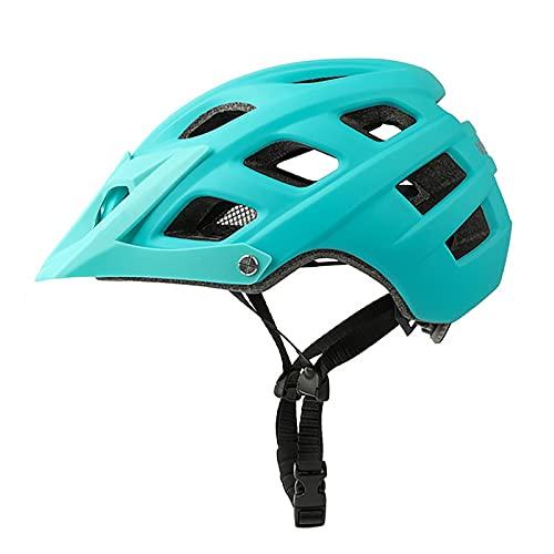 G&F Casco de Bicicleta Montaña Adulto Visera Fácil Instalación Ajustable Hombres y Mujeres 56-61cm (Color : Blue)