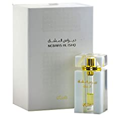 ABOUT NEBRAS SHOROUK: Shorouk is a modern and luminous fragrance. Nebras Al Ishq is a unisex line of three fragrance oils – Shorouk, Wahaj, & Noor. An ode to modern love, the line reveals different facets of love, each hugely unique but also compleme...