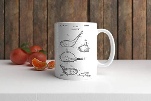 Kaffeetasse, Golfschläger-Zeichnung, 325 ml, Vatertagsgeschenk