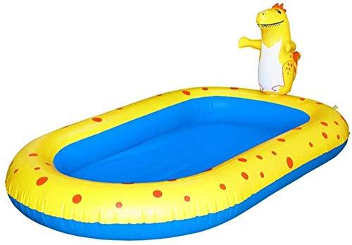 XINGDONG Piscina para niños, Fuente de Dinosaurio Inflable, Piscina Rectangular, Sprinkler Juego Piscina Juguetes al Aire Libre para niños Juego de Agua, 170x103x65cm Durable