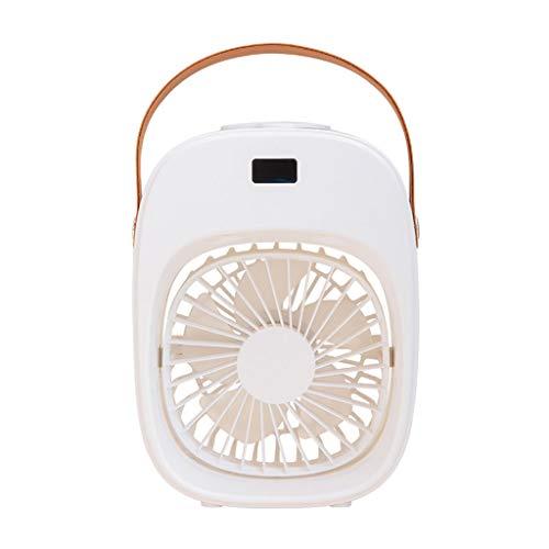 Y-POWER Humidificador portátil con 3 velocidades, enfriador de aire, recargable, inalámbrico, mini ventilador de escritorio silencioso con asa para habitación pequeña, oficina, dormitorio y exterior