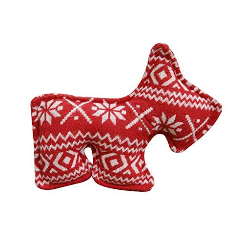 Pet Kerstmis Squeak doek speelgoed Artistieke stem Bite Mol Toys Pet Supplies kauwen willekeurige kleur