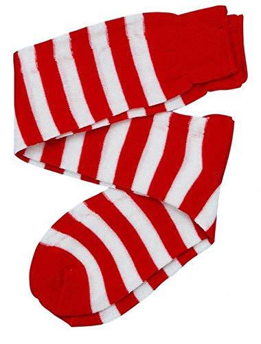 Forum Novelties Women's Novelty Red Striped Knee Socks, White/Red, One Size