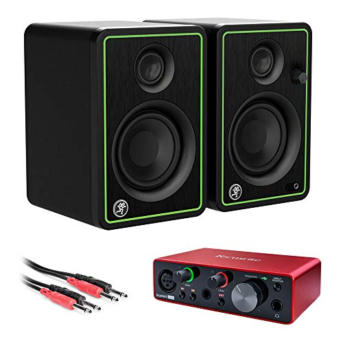 Mackie CR3-X Series 3' Studio Monitors (Pair) with Focusrite Scarlett Solo Audio...