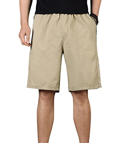 Baymate Grande Taille Beach Short Casual Sports Poches Multiples Boardshorts pour Homme Bronzer 2XL