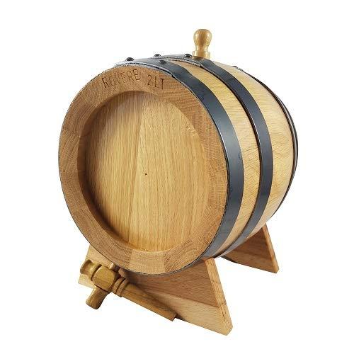 AgriStore di Cosenza V. Botte in Rovere da 4 Litri con piedistallo, Rubinetto e Tappo. Ideale per Vino e distillati