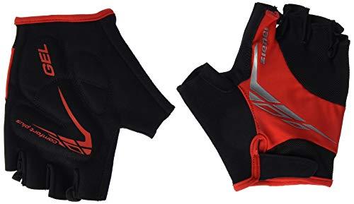 Ziener Erwachsene CENIZ Fahrrad-/Mountainbike-/Radsport-Handschuhe | Kurzfinger - Atmungsaktiv/dämpfend, red, 9,5