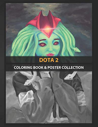 Coloring Book & Poster Collection: Dota 2 Medusa From Dota 2 Female Heroes With Her Fila Sweater Gaming