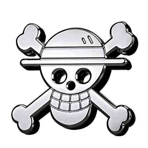 Csfssd Personalisierte Dekoration Autoaufkleber One Piece Piraten-Schädel-Logo Metall Auto Aufkleber Auto Aufkleber modifizierten Standardhinter