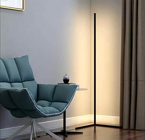 R&P 3 Farbtemperaturen stehlampe led dimmbar LED Stehlampe 20W Leselicht für Wohnzimmer mit Fernbedienung für Schlafzimmer Wohnzimmer Büro, 55 in,Schwarz