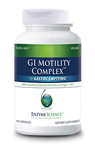 ENZYME SCIENCE™ GI Motility Complex™, 60 Capsules – All Natural Digestive Enzyme Support – Gut Health Supplment– Supports Gastrointestinal Motility and Transport – Aids Small Bowel and Stomach