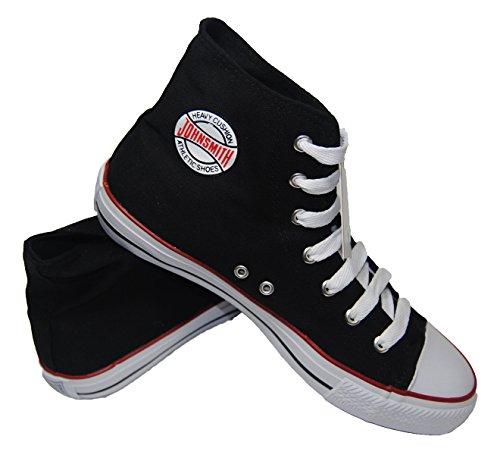 Zapatillas de Bota Lona (37, Negro)