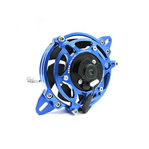 OTOM Ventilador extractor de pala de 4 pulgadas con cubierta de soporte para motocicleta Dirt Pit Bike, ATV Quad Motocross (juego azul)