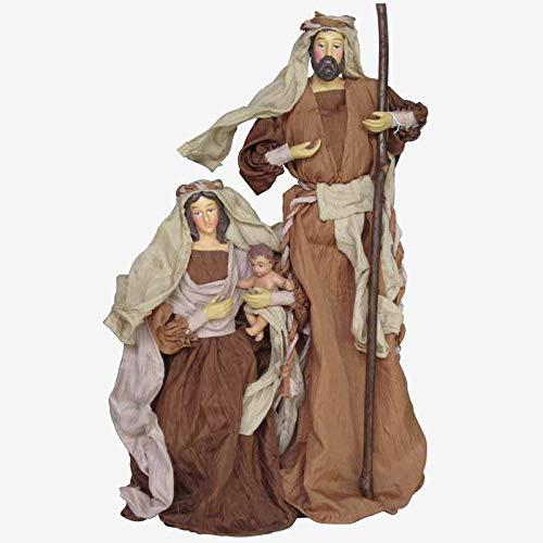 Beter & Beste Tuniek Geboorte met Grote Beige Stand, Afmetingen: 20 x 9 x 40 cm, Materiaal: Kunststof/Stof