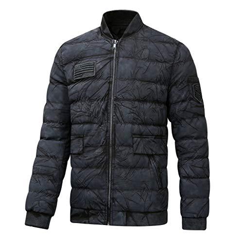 Herren Daunenjacke Warm Baumwolljacke Herbst Winter Reißverschluss militärjacke Outdoor Mantel CICIYONER